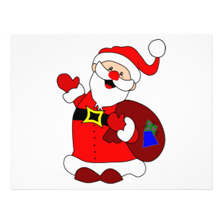 Santa Claus and gift bag clipart Flyer