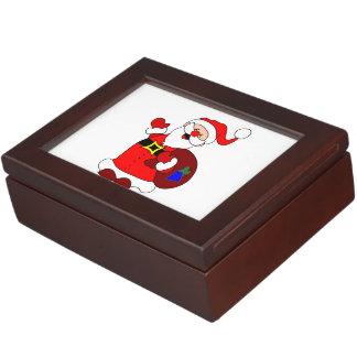 Santa Claus and gift bag clipart Keepsake Box