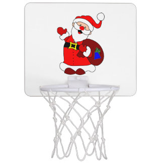 Santa Claus and gift bag clipart Mini Basketball Hoop