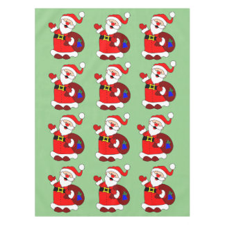 Santa Claus and gift bag clipart Tablecloth