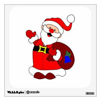 Santa Claus and gift bag clipart Wall Sticker