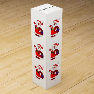 Santa Claus and gift bag clipart Wine Box