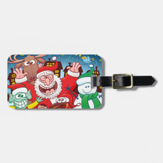 Santa Claus and his team are ready for Christmas Luggage Tag
