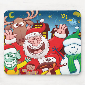 Santa Claus and his team are ready for Christmas Mouse Pad