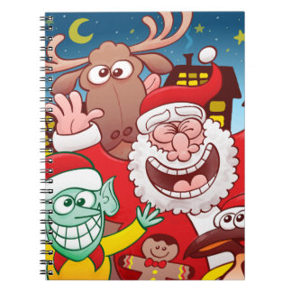 Santa Claus and his team are ready for Christmas Notebooks