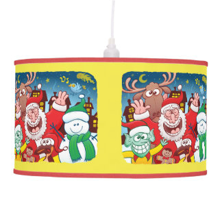 Santa Claus and his team are ready for Christmas Pendant Lamp