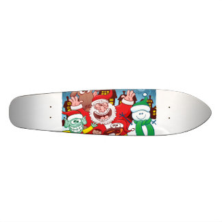 Santa Claus and his team are ready for Christmas Skate Board Decks