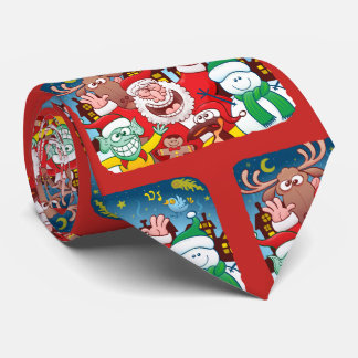 Santa Claus and his team are ready for Christmas Tie