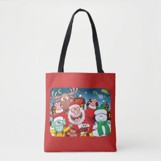 Santa Claus and his team are ready for Christmas Tote Bag