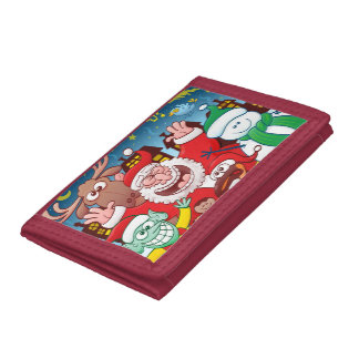 Santa Claus and his team are ready for Christmas Tri-fold Wallet