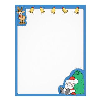 Santa Claus and Reindeer Christmas Letterhead