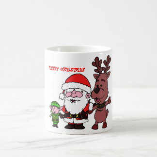 Santa Claus and Reindeer Coffee Mug