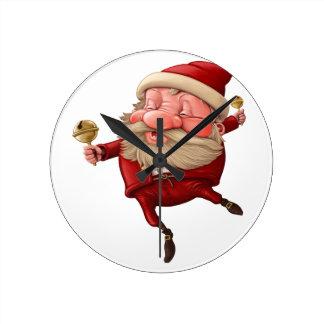 Santa claus and the bell's dancing clocks