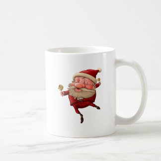 Santa claus and the bell's dancing coffee mug