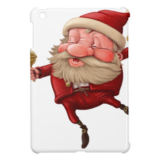 Santa claus and the bell's dancing iPad mini cases