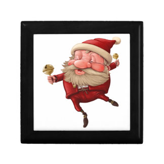 Santa claus and the bell's dancing jewelry boxes