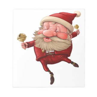 Santa claus and the bell's dancing notepad