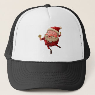Santa claus and the bell's dancing trucker hat
