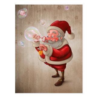 Santa Claus and the bubbles soap Postcard