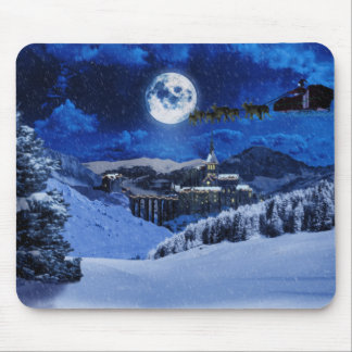 Santa Claus and the North Pole Mouse Pad