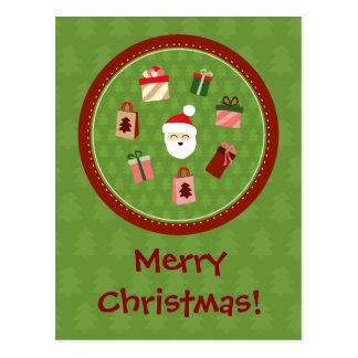 Santa Claus and the Presents Postcard