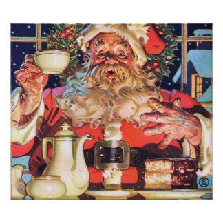 Santa Claus at Home Poster