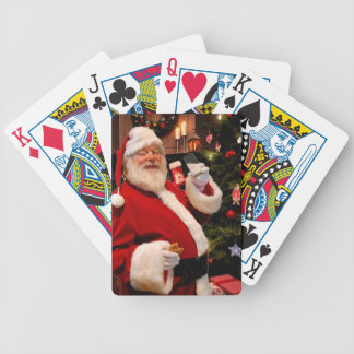 Santa Claus Bicycle Playing Cards