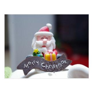 Santa Claus Cake Christmas Party Postcard