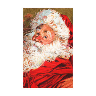 Santa Claus Stretched Canvas Print