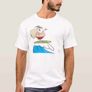 Santa Claus Carrying His Sack While Surfing T-Shirt