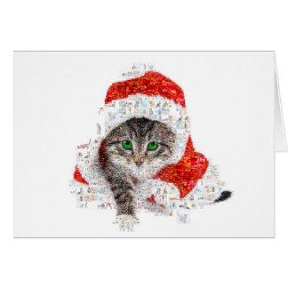 santa claus cat - cat collage - kitty - cat love card
