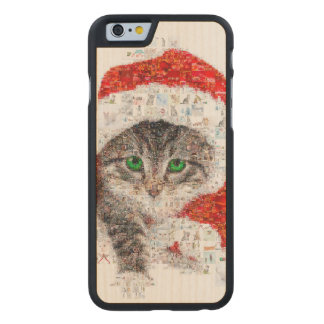 santa claus cat - cat collage - kitty - cat love carved maple iPhone 6 case
