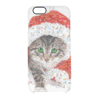 santa claus cat - cat collage - kitty - cat love clear iPhone 6/6S case