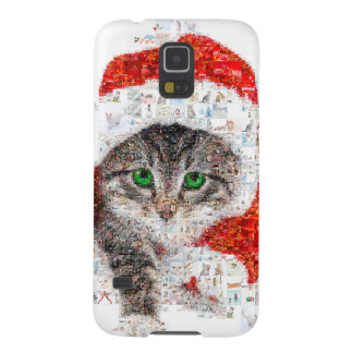 santa claus cat - cat collage - kitty - cat love galaxy s5 case
