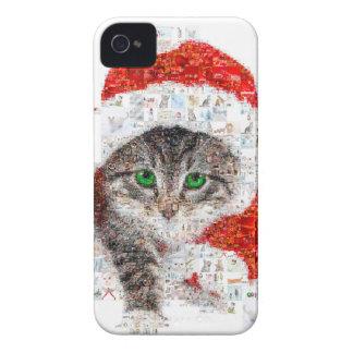 santa claus cat - cat collage - kitty - cat love iPhone 4 Case-Mate case