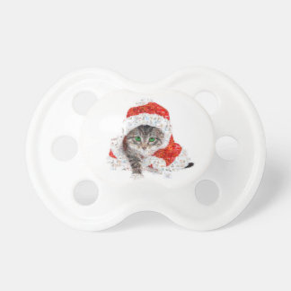 santa claus cat - cat collage - kitty - cat love pacifier
