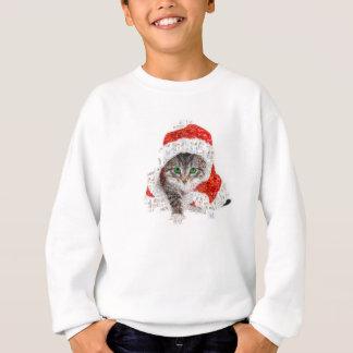 santa claus cat - cat collage - kitty - cat love sweatshirt