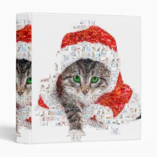 santa claus cat - cat collage - kitty - cat love vinyl binder