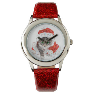 santa claus cat - cat collage - kitty - cat love watch