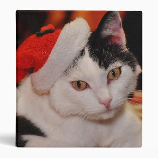 Santa claus cat - merry christmas - pet cat 3 ring binder