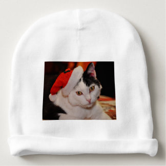Santa claus cat - merry christmas - pet cat baby beanie