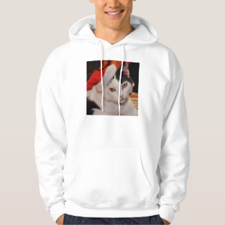 Santa claus cat - merry christmas - pet cat hoodie