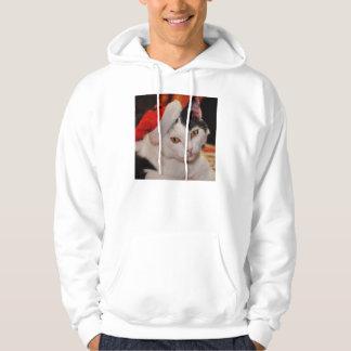 Santa claus cat - merry christmas - pet cat hoodie