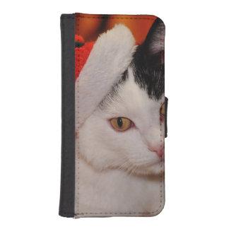 Santa claus cat - merry christmas - pet cat iPhone SE/5/5s wallet case