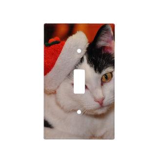 Santa claus cat - merry christmas - pet cat light switch cover