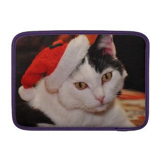 Santa claus cat - merry christmas - pet cat MacBook sleeve