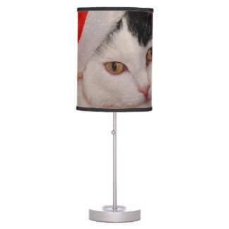 Santa claus cat - merry christmas - pet cat table lamp