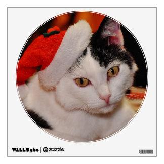 Santa claus cat - merry christmas - pet cat wall decal