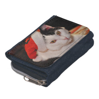 Santa claus cat - merry christmas - pet cat wallets