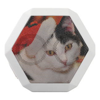 Santa claus cat - merry christmas - pet cat white bluetooth speaker